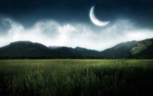 luna calante, calendario lunare
