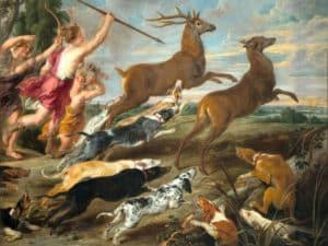 caccia al cervo, mese di artemide