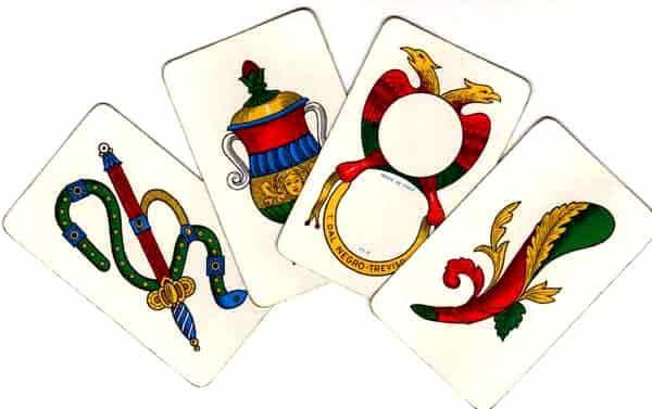 i quattro semi delle carte napoletane
